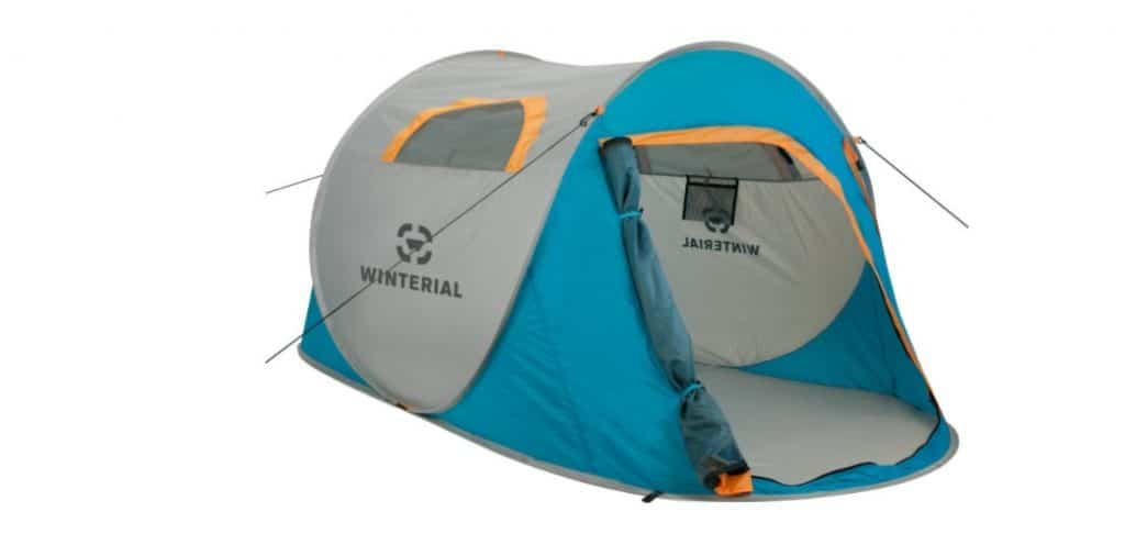 Winterial 2 Person Portable Camping Instant Pop Up Tent