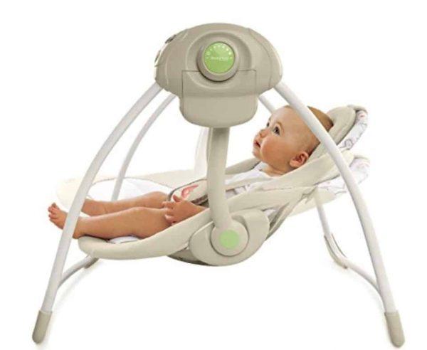 Cozy Kingdom Portable Baby Swing from Comfort & Harmony
