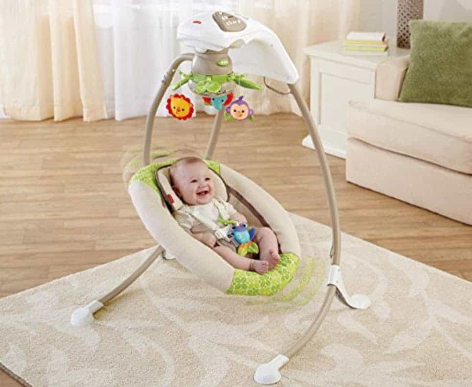 Fisher-Price Deluxe Cradle 'n Baby Swing, Rainforest Friends
