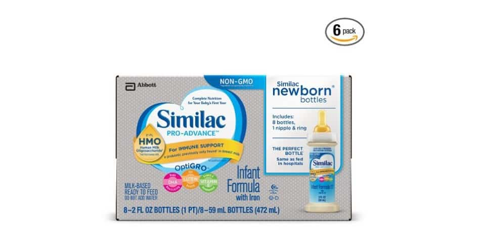 similac pro advance infant formula with hmo for immune support