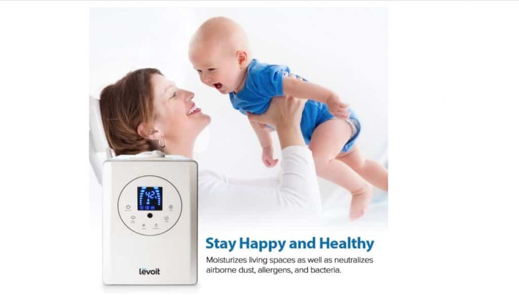 best humidifier for baby- Ultrasonic Cool and Warm Mist Humidifier from Levoit