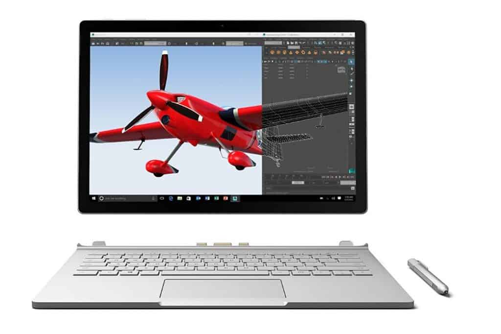 Microsoft Surface Book 13.5-Inch Multi-Touch Laptop for writers