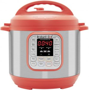 Red instant pot for pressure cooking