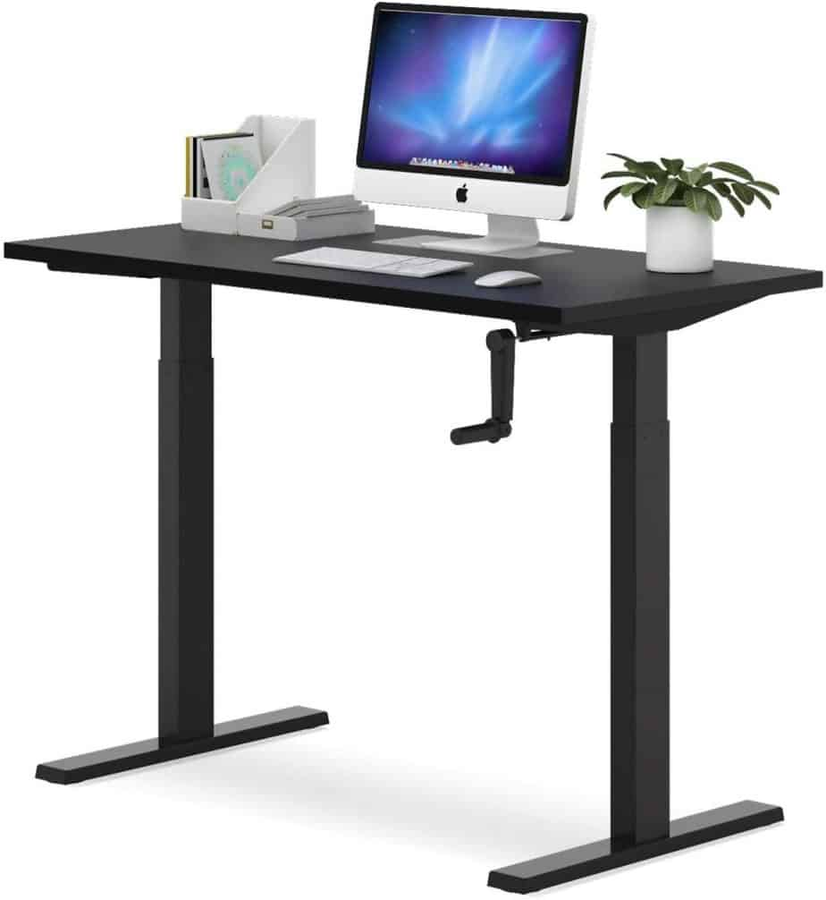 best hand crank sit stand desk