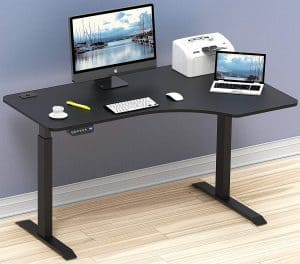 best l-shaped adjustable desk for home office