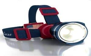 Patriotic American Flag Super Bright LED Headlamp Flashlight